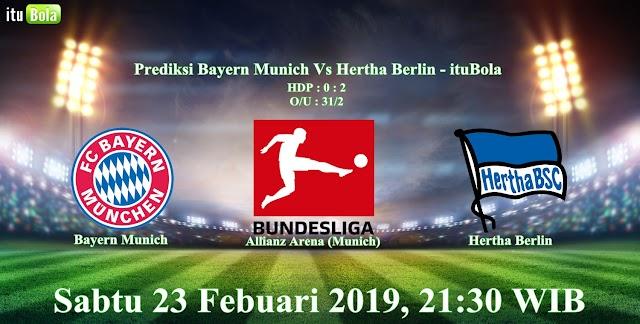 Prediksi Bayern Munich Vs Hertha Berlin - ituBola