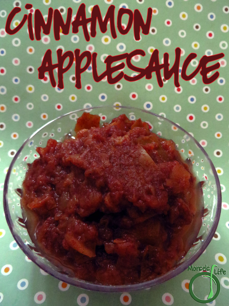 Morsels of Life - Cinnamon Applesauce - A simple, yet flavorful cinnamon applesauce made in the slow cooker. Use a few varieties of apple for some extra yumminess!