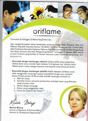 Kosmetik Oriflame Halal