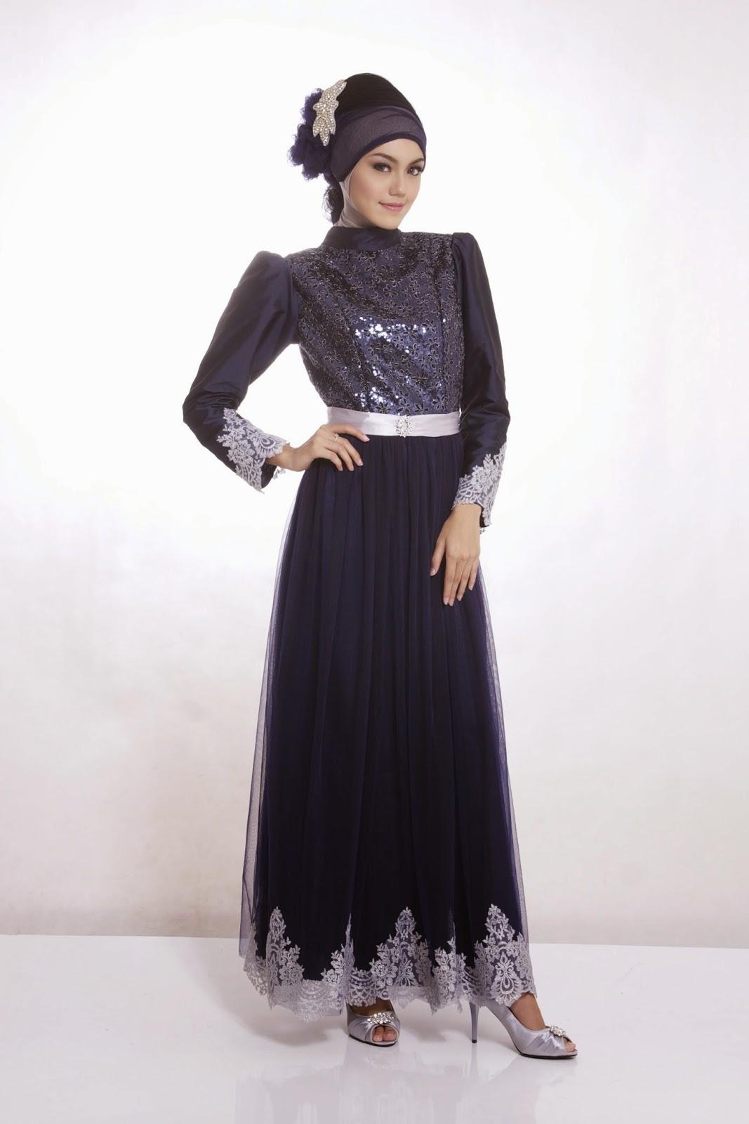 Contoh Gaun Pesta Muslim Wanita Acara Pesta