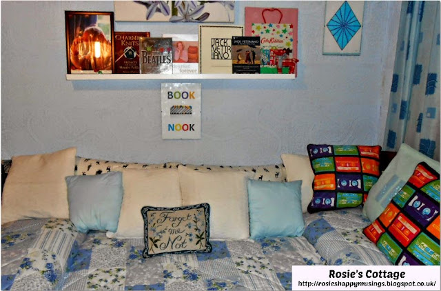Ikea Picture Ledges make help to create a perfect book nook.