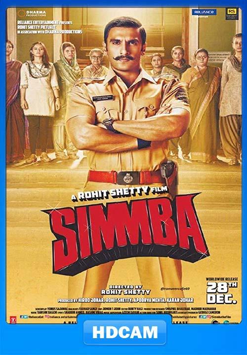 Simmba 2018 Hindi 720p HQ HDCAMRip x264 | 480p 300MB | 100MB HEVC