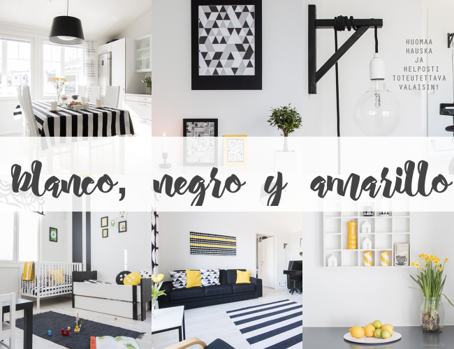 Home Tour: BLANCO, NEGRO Y AMARILLO