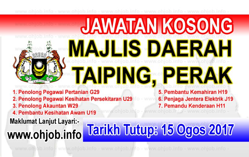 Jawatan Kerja Kosong Majlis Perbandaran Taiping logo www.ohjob.info ogos 2017