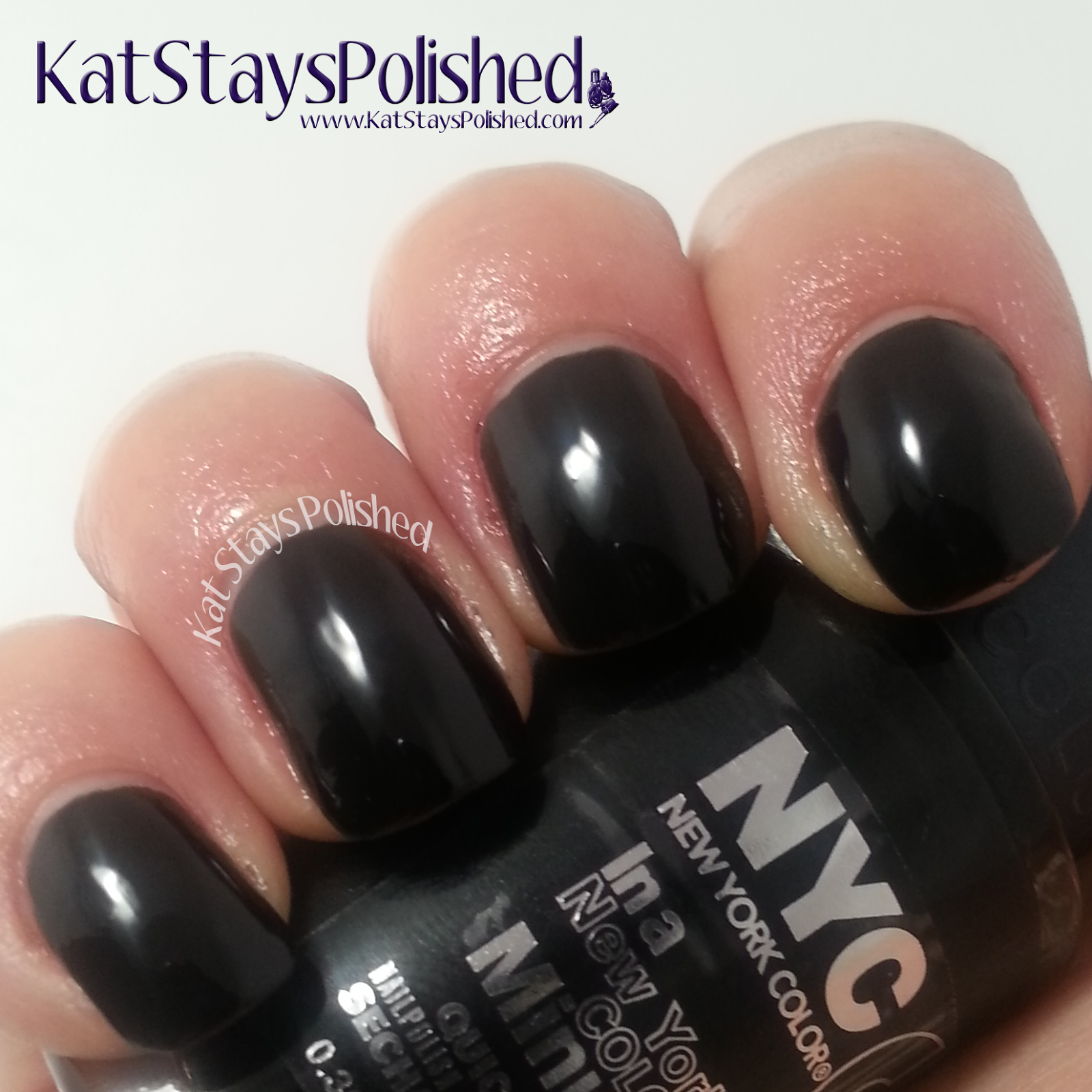 NYC New York Color - Midnight Beauty Collection - Black Elixir | Kat Stays Polished