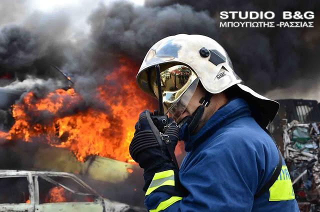 Τραυματισμός 3ετη πυροσβέστη από την Πυροσβεστική  Ναυπλίου στην Αερόπολη
