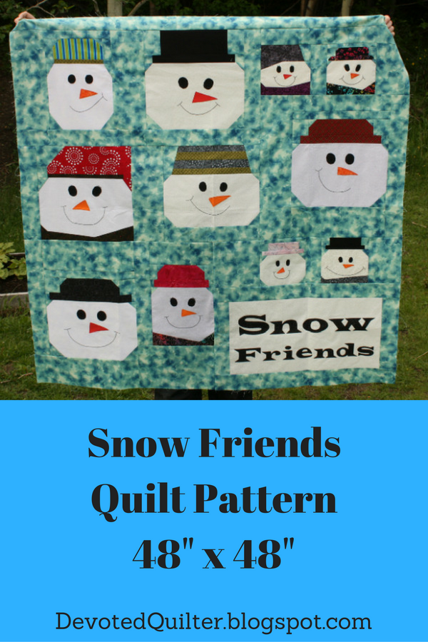 Snow Friends Quilt Pattern | DevotedQuilter.blogspot.com