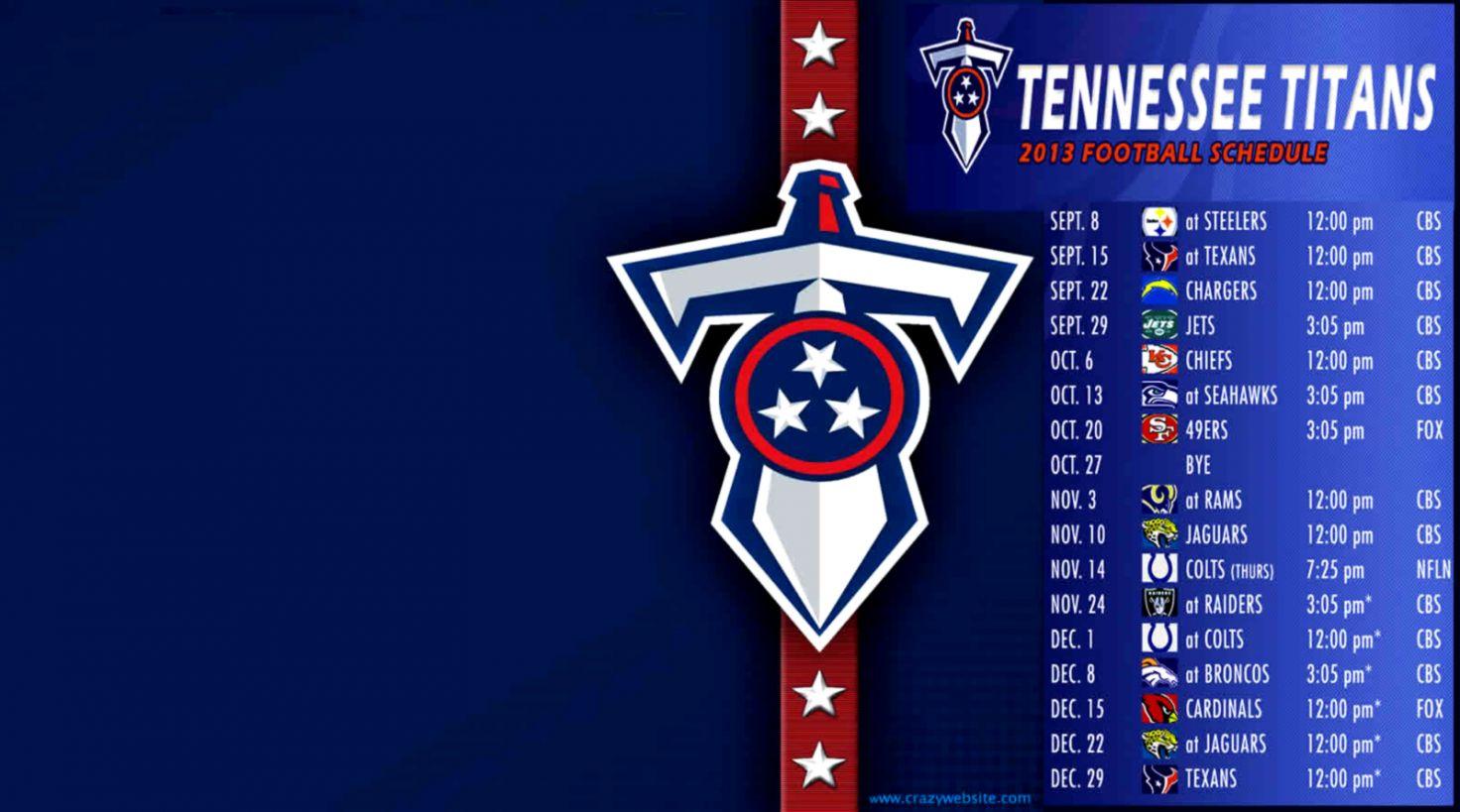 3523a6c8 Tennessee Titans Nfl Schedule Season Wallpaper | Wallpapers Art