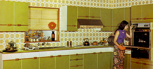 Oh so lovely vintage bright 60 39 s kitchen cabinets for 70s style kitchen cabinets