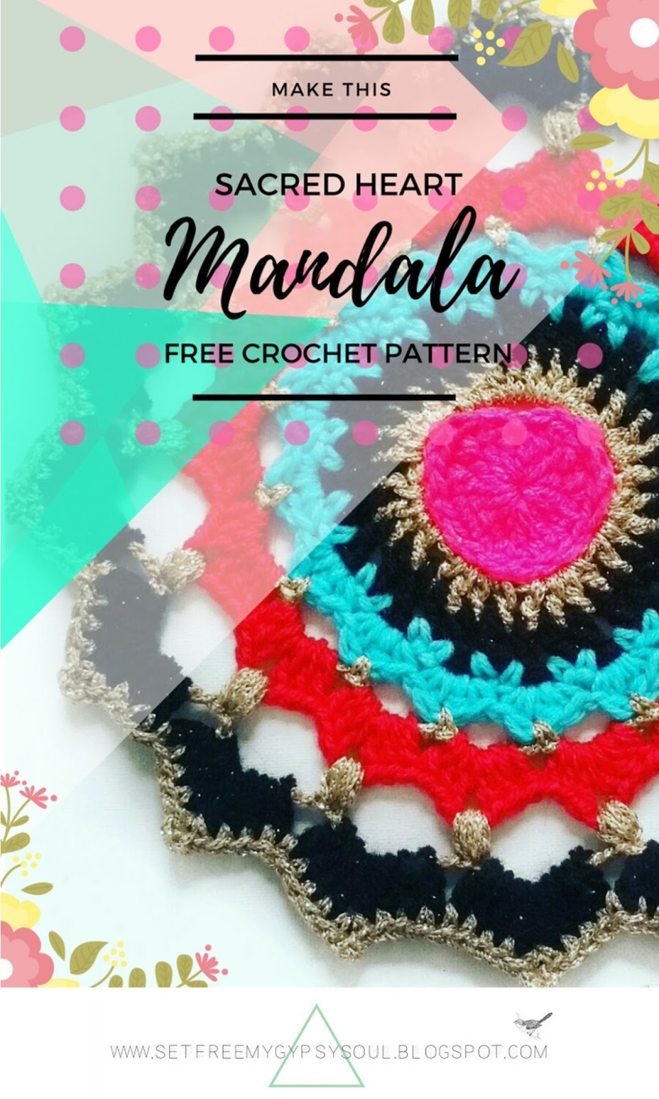 heart crochet pattern mandala
