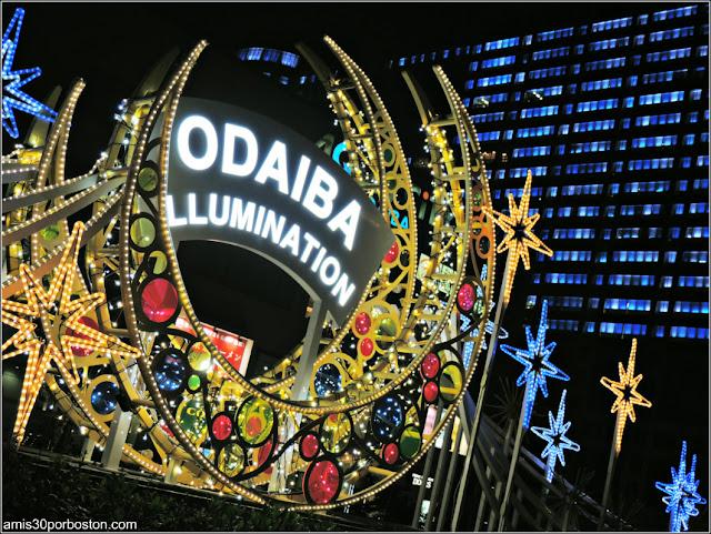 Iluminación en Odaiba, Tokio