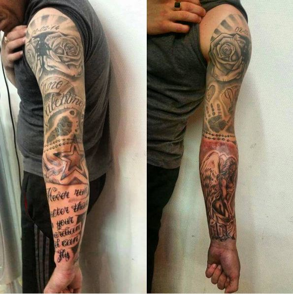 Badass Tattoo Quotes For Guys: 50 Best Sleeve Tattoos For Men And Women (2018