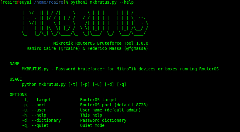 MKBRUTUS] Password bruteforcer for MikroTik devices or boxes
