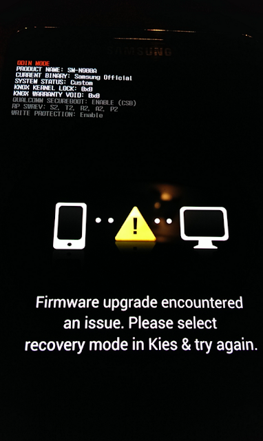 Firmware Upgrade Encountered an Issue Pada Samsung Galaxy