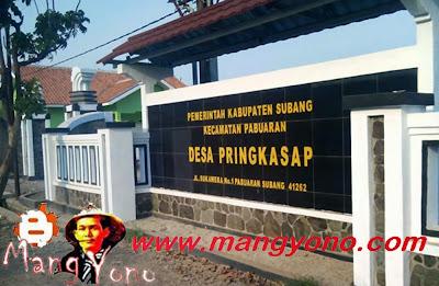 Desa Pringkasap, Kecamatan Pabuaran. Poto hasil jepretan Mang Dawocx, Facebooker Subang ( FBS )
