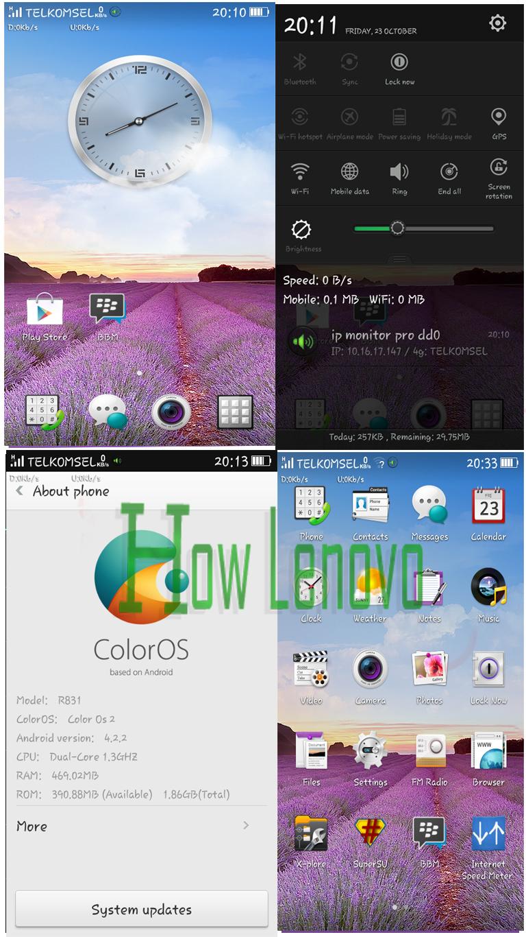 Rom Oppo Color Os Deodexed Version For lenovo A516 | How Lenovo