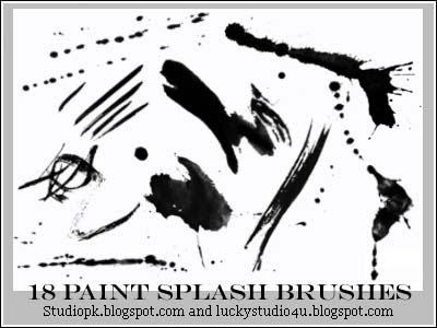 18 paint splash brushes Download