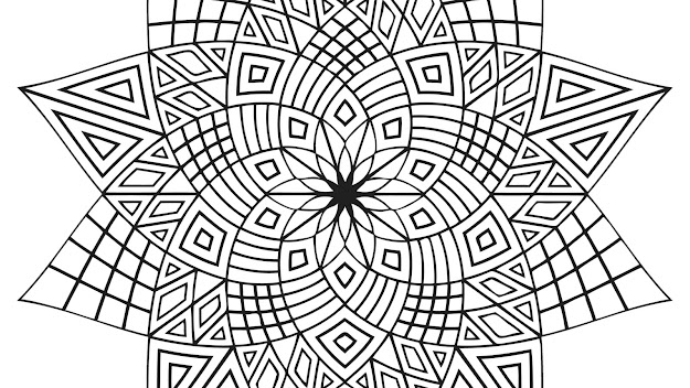 Geometric Design Coloring Pages Pages