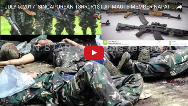 2uowokq BREAKING NEWS! SINGAPOREAN TERORRI$T AT MAUTE MEMBER NAPATAY SA DANSALAN COLLEGE, MGA ARMAS NARECOVER NG MILITAR...