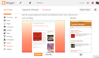 Open Blogger, go to Template, Click on Customise