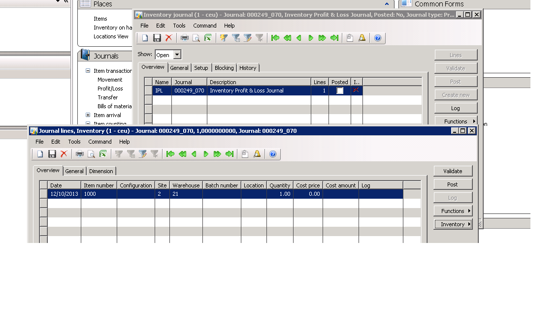 MS Dynamics AX 2009 & 2012: Concepts of Transfer Journal, Movement