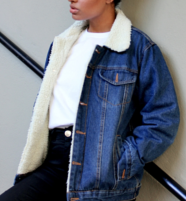 Jaqueta vintage de pelinhos