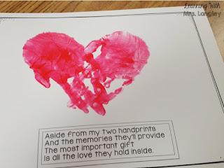 Handprint Calendar February