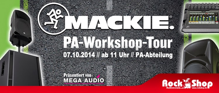 Rock Shop Musikinstrumente Karlsruhe Mega Audio Mackie PA-Workshop Tour