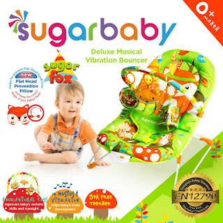 Sugar Baby Deluxe Musical Vibration Bouncer Sugar Fox