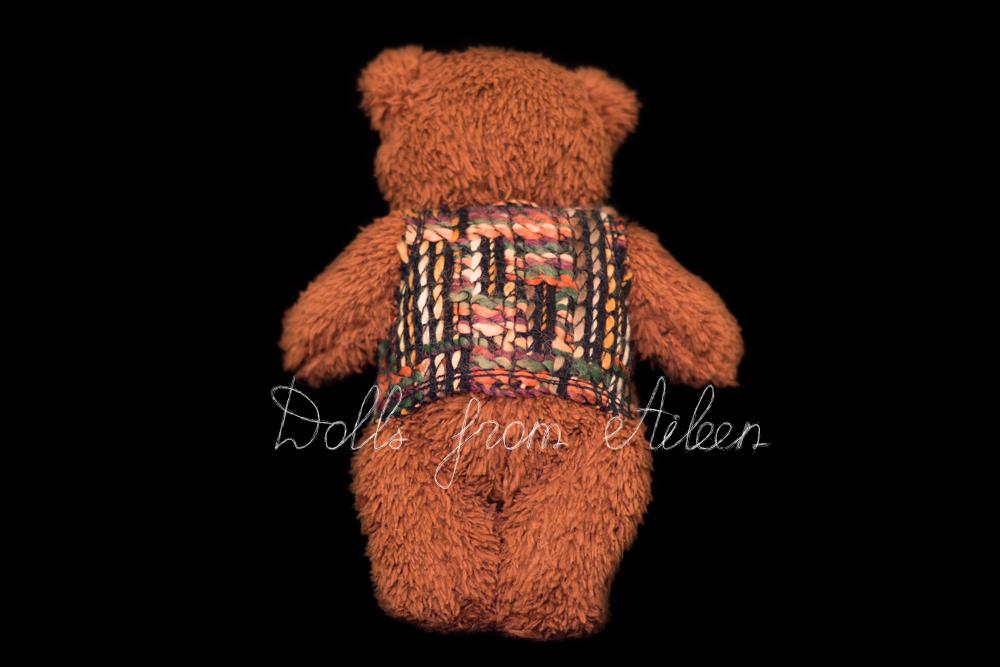 OOAK artist teddy bear view from behind