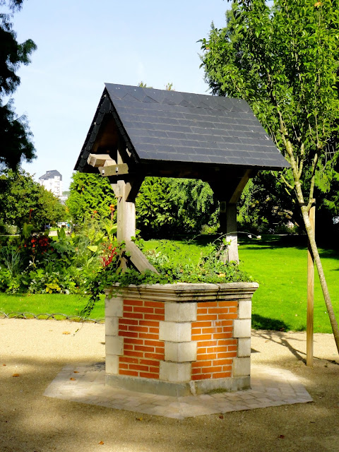 Wishing well in a park in Tours, France