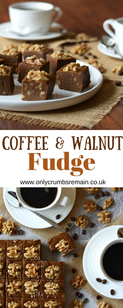 If you love Coffee & Walnut cake, then why not try this homemade fudge recipe.   It produces a confectionary which is robust and flavoursome, a great alternative fudge flavour.