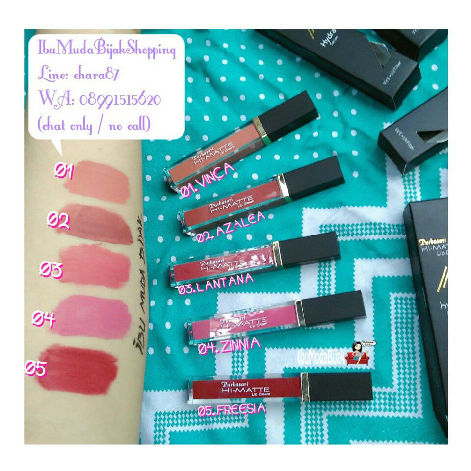 Review Purbasari Lipstick Color Matte Warna Baru 91 92 93 94 95 Hi Lip Cream Hydra