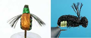 "Use Kreinik 1/16"" and 1/8"" Ribbon for bodies and wings in fly tying and fly fishing"