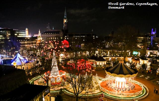 Tivoli Gardens, Copenhagen, Denmark On Christmas