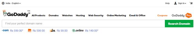 Godaddy.com site se Domain Kharide