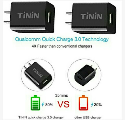 Tinin USB Wall Charger - 3.0 Qualcomm USB-Port AC~DC Adapter