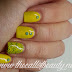 Nail Art of the Day: Lemon and Iridescent Green Studs