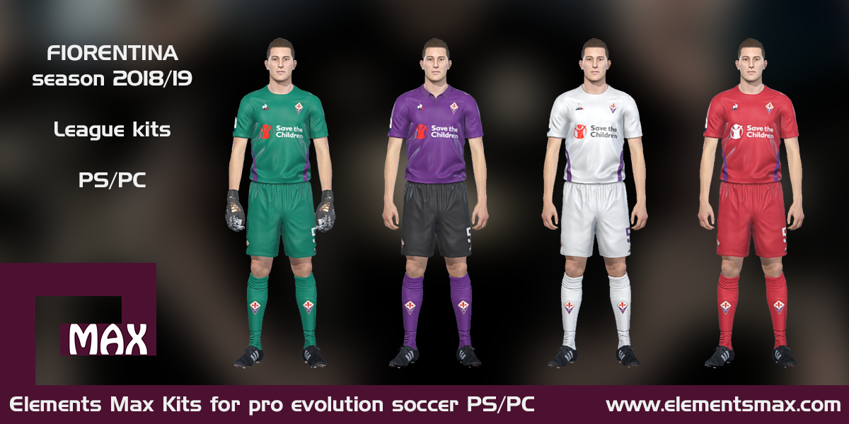 Elements MAX Kits: Fiorentina PES Kits 2018/19