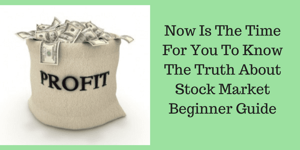 Stock Market Beginner Guide