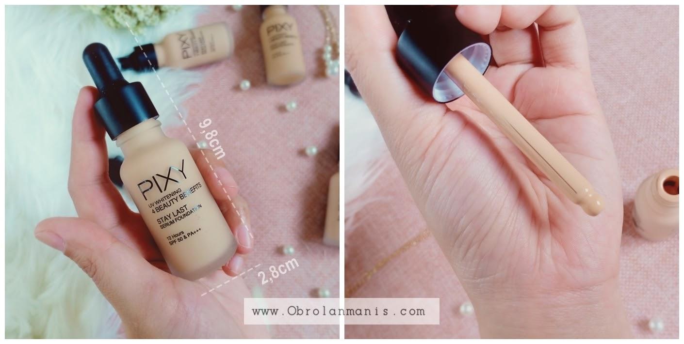 Kemasan PIXY UV Whitening Stay Last Serum Foundation
