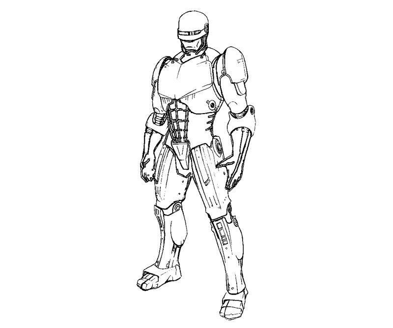 Robocop Coloring Pages Coloring Pages