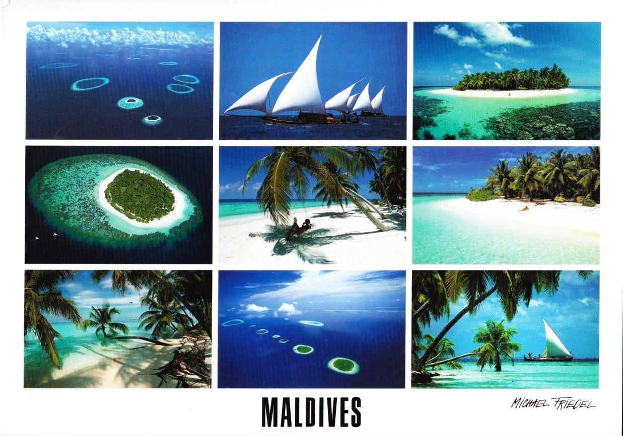 Pocztówki Dośki.: Malediwy