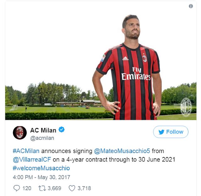 AC Milan Dalam Pembicaraan Untuk Mengontrak Rodriguez