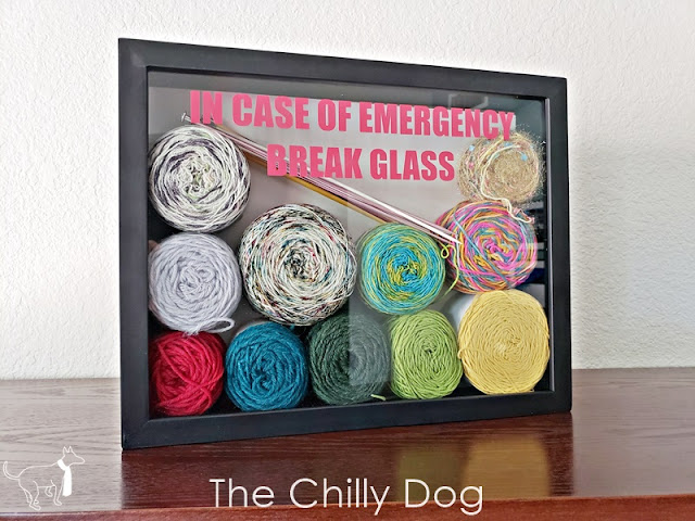Stash Buster Project: Yarn, Craft or Hobby Emergency Shadow Box
