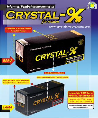 Baru! Ciri-Ciri Kemasan CRYSTAL X asli Nasa 2015
