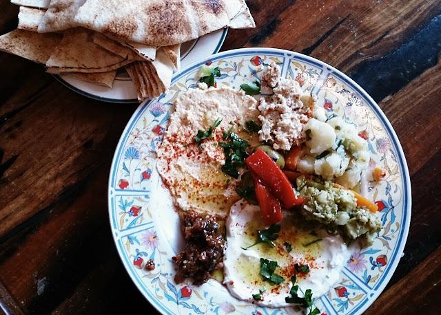 Moroccan Soup Bar, vegetarian, dips, bread