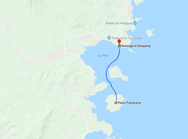 lokasi Pantai pahawang lampung