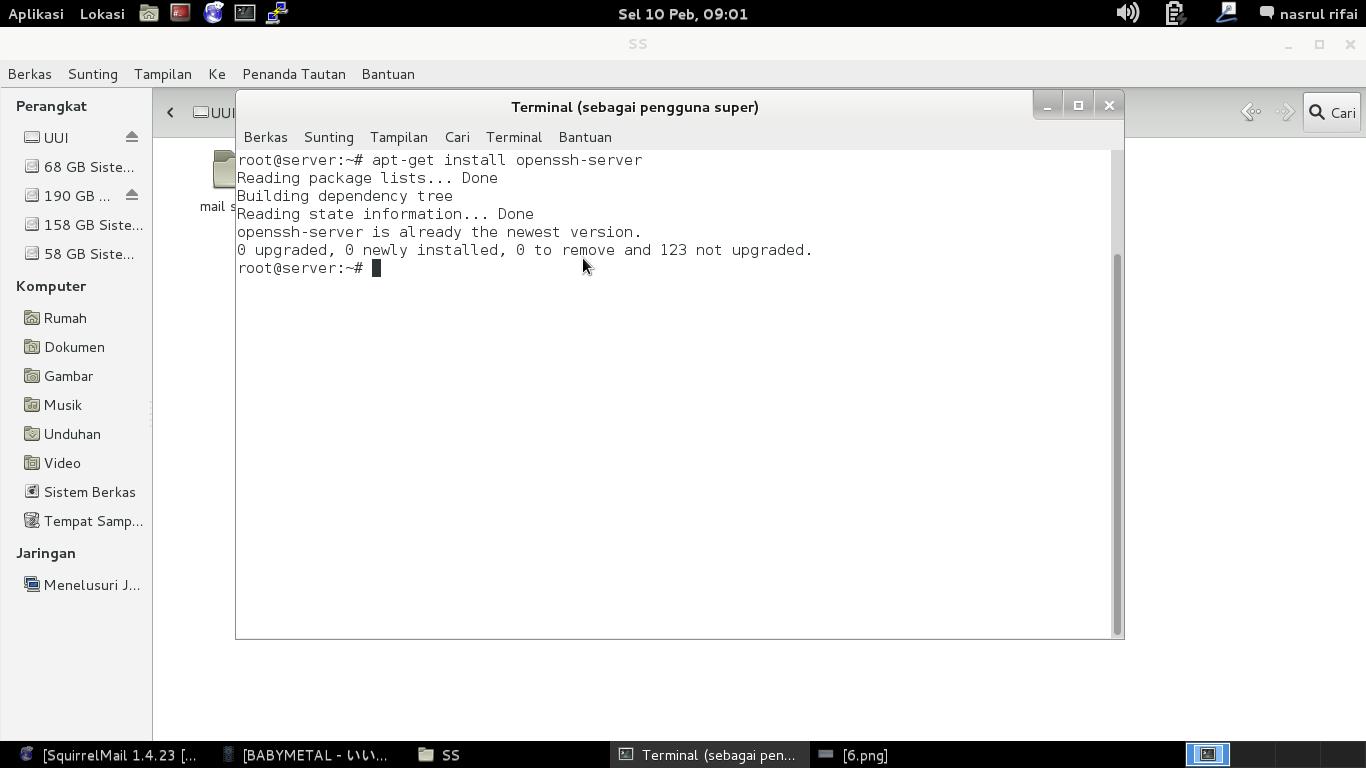 Instalasi dan Konfigurasi Ssh Server Linux Debian 7