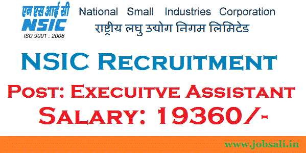 NSIC Careers, National Small Industries corporation Limited, NSIC Application form